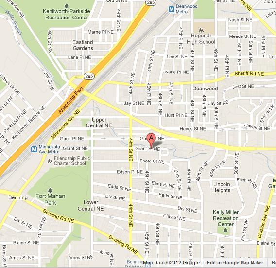 Map To 4501 Grant Street Ne